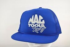 Mac Tools Racing Light Blue Baseball Cap Snap Back Vented Sportsman 100% poly