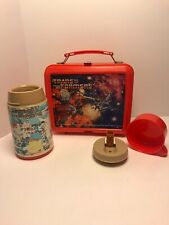Vintage 1984 Transformers Lunchbox With Thermos Complete Aladdin