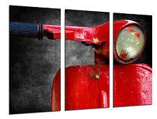 Carreau Moderne Moto Vespa Vintage Rouge, Réf. 26521