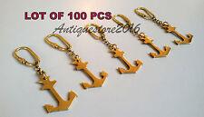 NAUTICAL VINTAGE MARINE MARITIME BRASS ANCHOR KEY CHAIN BEAUTIFUL LOTOF 100 PCS