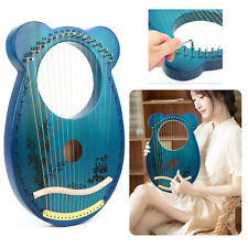 Lyra Harfe 16 Saiten inkl. Stimmschlüssel Leier Lyre Zupfinstrument graviert DE