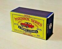 LESNEY MATCHBOX MOKO NO.75A FORD THUNDERBIRD CUSTOMISED DISPLAY/STORAGE BOX