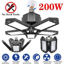 200W E27/E26 Led Garage Lights Bulb Deformable Ceiling Fixtures Workshop Lamp