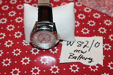U.S Polo Assn. Classic Mens US5159 Black Leather Strap Silver Tone Dial Watch