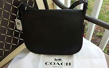 Coach 55298 Saddle Glove Tanned Leather Saddle Crossbody Bag Black $395