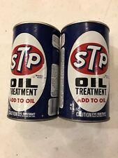 Two Vintage STP Oil Treatment 15 oz. cans