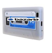 CASE COVER RETRO CASSETTE CASET CASETE SAMSUNG GALAXY S2 i9100 WHITE TRANSPARENT