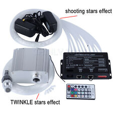 10W RGBW TWINKLE LED Fiber Optic Star Ceiling Light kit 200pcs*0.75mm*2m+meteor