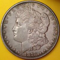 1878-S Morgan Silver Dollar - Sharp Looking Coin, Excellent Details - First Year