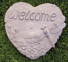 "Garden Path Walkway Stepping Stone Welcome Heart NEW 7 7/8"" C"