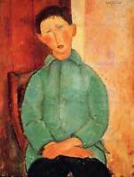 AMEDEO MODIGLIANI BOY IN BLUE JACKET OLD MASTER ART PAINTING PRINT 139OMB