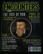 Encounters MAGAZINE #8 June 1996 Nostra Damus, Sacred Geometry, Aliens * RARE*