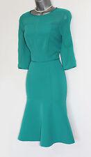 MONSOON Green Turquoise 3/4 Sleeves Elegant Evening Cocktail  Dress UK 12  EU 40