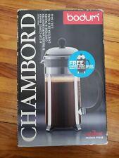 BODUM Chambord 1928 8 Cup Coffee French Press w/ black coffee coat original pkg