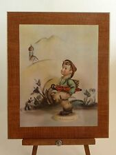"Vtg Hummel Laminated Mounted Art Print Wall Hanging / Happy Traveler 8.5""x10.5"""