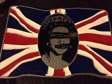 Vintage Sex Pistols God Save The Queen Metal Flag Belt Buckle Punk/Rock 2004