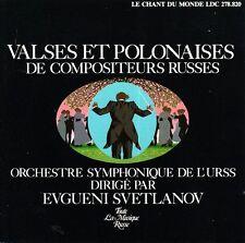VALSES ET POLONAISES DE COMPOSITEURS RUSSES Evgueni / Yevgeny Svetlanov CD N.MNT