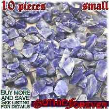 10 Small 10mm Combo Ship Tumbled Gem Stone Crystal Natural - Sodalite