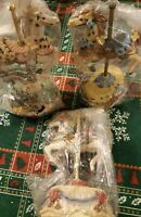 Lot Of 3 Heritage House Carousel Horse Melodies County Fair Collection