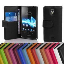 Handy Hülle für Sony Xperia T Cover Case Tasche Etui mit Kartenfächer