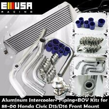 Intercooler Piping+Intercooler+BOV for 88-00 Civic D15/D16 D Series EX/Si 1.6L