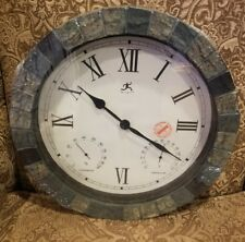 Infinity Instruments- In/Outdoor Clock with Slate Mosaic Border - NEW