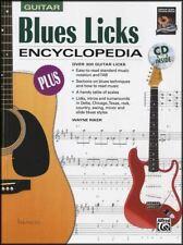 Blues Licks Encyclopedia Guitar TAB Music Book/CD Over 300 Licks Wayne Riker