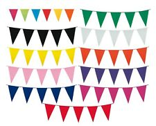 10m COLOUR BUNTING FLAGS PENNANTS PARTY DECORATION EVENT VE GARDEN FLAG OUTDOOR