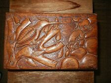 rosewood hand Carved Antique Jewelry Box sculpture forest art decor花梨红木手工雕刻艺术文房盒