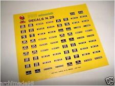 DECALS 1/43 TARGHE FERRARI GTO-250-330-275-365-DINO