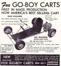 1959 FOX GO-BOY CART  ~  ORIGINAL SMALLER PRINT AD