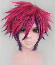 No Game No Life Sora Cosplay Wig Event Synthetic Rose Mix Purple Short Straight