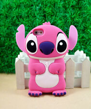 USA FAST SHIP HOT PINK STITCH HERO 626 CUTE 3D IPHONE 5/5S SOFT CASE COVER GIFT