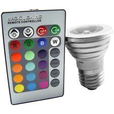 Lampe à LED 16 couleurs changeantes avec télécommande sans fil - 3W - Culot E27