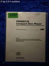 Sony Bedienungsanleitung CDX M630 CD Player (#3157)