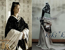 China Classical Blacks Flax&Cotton HanFu Han Dynasty Cosplay Costume Hand made