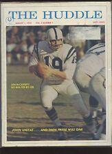 1970/1971 The Huddle NFL Football Magazine 11 Different VG/EX