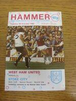 26/10/1982 West Ham United v Stoke City [Football League Cup] . Bobfrankandelvis