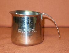Krups 18-8 Stainless Steel Milk Frother Cup - free UK postage
