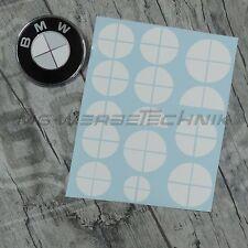 BMW Emblem Logo Aufkleber Ecken 1er 2er 3er 4er M3 X1 X3 X4 X5 weiß glänzend