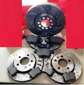 AUDI A3 S3 QUATTRO 8L1 FRONT REAR DRILLED GROOVED BRAKE DISCS & BREMBO PADS