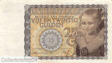 Nederland - Netherlands 25 Gulden 1940 Prinsesje Zf / Vg  - BE049195