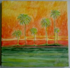 Palm Trees Acrylic Painting on Canvas