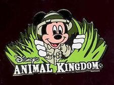 Disney Pin Collection Animal Kingdom Bucket Hat Pin Set Safari Mickey in Grass