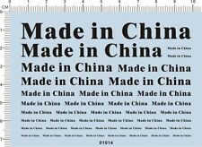 MADE IN CHINA Model kit Water Decal