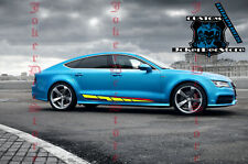 2 COLOR Side door stripe vinyl decal graphic sticker kit for Audi A7 A5 A6 A4
