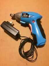 4v Volt Dual Driver Xl Channel Lock Power Drill w/ Light 1/4 Inch Chuck charger