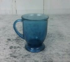 Vintage Anchor Hocking Cobalt Blue 14oz Glass Mug