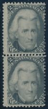 #73 2c Blackjack 1863 Vertical Pair Mint Og Nh Cv $2,600 Bu5176