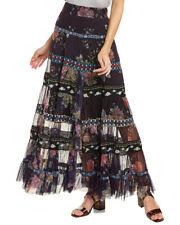 NWT GLORIA VANDERBILT Black//White stripe long maxi skirt sz XL MSRP $40.00